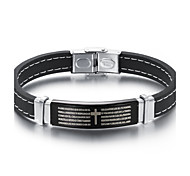 Cross the scriptures Fashion and personality best Mr Titanium steel silicone bracelets both men and women