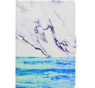 Case For Samsung Galaxy Tab T580 T560 Ocean Marble Pattern PU Leather Material Flat Protective Cover Case T550 T530 T350 T330 T280