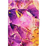 Case For Samsung Galaxy Tab T580 T560 Amethyst Marble Pattern PU Leather Material Flat Protective Cover Case T550 T530 T350 T330 T280