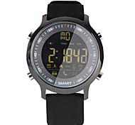 Damen Herrn Smart Uhr digital Caucho Band Schwarz Orange Grün