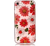Случай для iphone 7 7plus 6s 6 6plus 6s плюс se 5s 5 крышка случая крышки цветка высокий прозрачный материал tpu imd корабль шифоновый