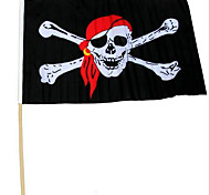 Хэллоуин партии реквизит производительности 30 * 45 со штангой пиратский флаг красный шарф пиратский череп пиратский флаг