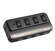 4 portas usb 2.0 hub alta velocidade 480mbps com interruptor