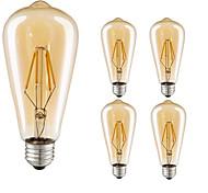 4W LED лампы накаливания ST64 4 COB 360 lm Тёплый белый Холодный белый Декоративная AC 220-240 V 5 шт. E27