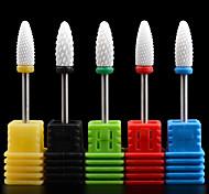 1PCS Nail Art Grinding Head Acrylics Phototherapy Armour Grinding Needle Ceramic Polished Rod 9#-13# Optional