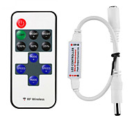 HKV® 1Pcs Mini RF Wireless Dimmer LED Remote Controller 11keys Single Color LED Controller For  LED Strip Lights