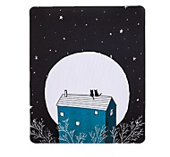 The Young Lady 'S Late Set Of Cats Art Freshness Illustrator Mouse Pad Natural Rubber Fabric 20 * 23.8