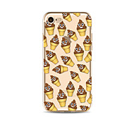 Чехол для iphone 7 плюс 7 крышка прозрачный узор задняя крышка чехол мультяшное мороженое мягкое tpu для яблока iphone 6s плюс 6 плюс 6s 6