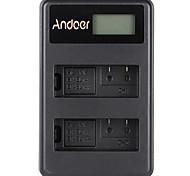 Andoer® en-el14 en-el14a перезаряжаемый литий-ионный аккумулятор зарядное устройство светодиодный дисплей 2-слотовый USB-кабель для nikon