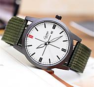 Men's Fashion Watch Quartz Fabric Band Green