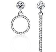 Stud Earrings Drop Earrings New Mismatching Asymmetry Earrings Luxury Fashion Silver Rhinestone Geometric  For Women Party Daily Movie Gift Jewelry