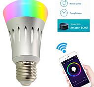 8W Lampadine LED smart A60(A19) 22 SMD 2835 600 lm Colori primari Bianco Wi-fi AC 85-265 V 1 pezzo