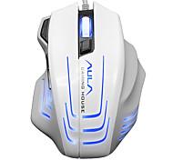 Aula 2500dpi 6600fps 80ips mouse di gioco con cavo bianco mouse