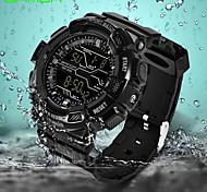 SANDA Homens Relógio Esportivo Relógio de Pulso Relogio digital Japanês Digital Calendário Impermeável alarme Noctilucente Borracha Banda