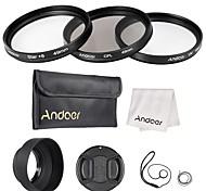 Andoer 49mm kit filtro lenti uv cpl star8 con accessori lenti