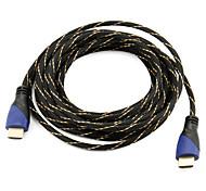 Высокоскоростной HDMI кабель Поддержка 1.4V 3D для смарт-LED HDTV, Apple TV, Blu-Ray DVD (5 м)