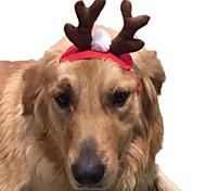Кошка Костюмы Аксессуары для шерсти Одежда для собак Косплей Рождество Сплошной цвет