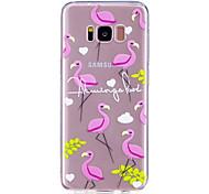 Кейс для samsung galaxy s8 s8 plus кейс крышка фламинго рисунок окрашенный высокий проникающий тпм материал мягкий чехол телефон кейс для