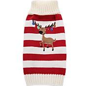 Собака Плащи Свитера Одежда для собак Для вечеринки Праздник На каждый день Свадьба Мода Рождество Новый год Северный олень Красный