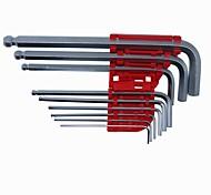 9 шт. Шариковая оконечная шестерня с шестигранным ключом универсальный ключ для автомобильного двигателя atv 1,5 мм -10 мм