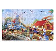 Пазлы Деревянные пазлы Строительные блоки Игрушки своими руками Китайская архитектура Мультяшная тематика 3D Мультфильм образный