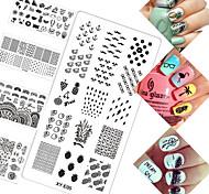 16 Стемпинг Пластины изображения шаблона Стампер скреперов