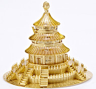 Пазлы Металлические пазлы Строительные блоки Игрушки своими руками Круглый Ветряная мельница Китайская архитектура Сплав