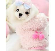 Собака Толстовка Одежда для собак На каждый день Сплошной цвет Желтый Розовый
