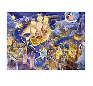 Пазлы Пазлы Строительные блоки Игрушки своими руками Корабль Мультяшная тематика