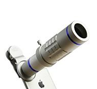 Мобильный телескоп 18x с 37-миллиметровым зажимом мобильного телефона под серебром