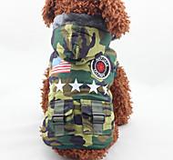 Собака Плащи Одежда для собак Мода Американский / США Камуфляж цвета