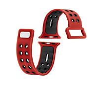Для iwatch яблочный ремешок для часов серии 2 1 силиконовый спортивный фитнес-полоса замена 38 мм 42 мм