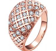 Жен. Кольца на вторую фалангу Стразы Мода Позолоченное розовым золотом Круглый Бижутерия Назначение Для вечеринок Повседневные