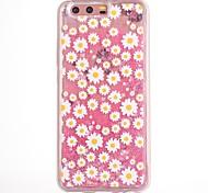 Кейс для huawei p10 plus p10 кейс крышка цветок рисунок текущая жидкость блеск мягкий tpu materia телефон чехол v9