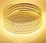 10m 220v Higt яркие светодиодные полосы света гибкие 5050 600smd три кристаллические водонепроницаемый свет бар света сада с штепсельной