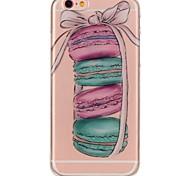 Назначение iPhone 7 iPhone 7 Plus Чехлы панели Ультратонкий С узором Задняя крышка Кейс для Продукты питания Мягкий Термопластик для Apple