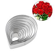 10piece / Установить Формы для пирожных Цветы Повседневное использование Печенье Для приготовления пищи Посуда Для торта Нержавеющая сталь