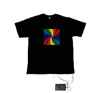 소리와 음악을 활성화 엘 비주얼의 VU 스펙트럼 댄서 T 셔츠 (2 * AAA)