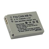 Digitale camera Batterij van nb-5l/nb-5lh voor cacon digitale xus800 / ixus90 (09370140)