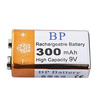 BP 9V 300mAh 높은 수용량 충전가능한 배터리