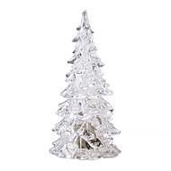 cristal árvore de Natal de luz LED coloridas