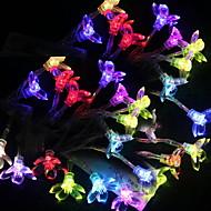 2.5M 3W 20-LED Colorful Light Plum Blossom Design LED String Lamp (3xAA)