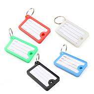 rectangle de mini-valise de voyage bagages id tag (5 pièces)