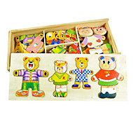 Four Bears Changing Clothes Puzzle