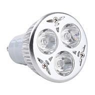 Focos MR16 GU10 3 W 3 LED de Alta Potencia 270 LM 3000K K Blanco Cálido AC 85-265 V