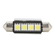 42mm 4 SMD LED White Light Bulb