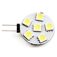 G4 1 W 6 SMD 5050 50 LM Natural White Spot Lights DC 12 V