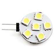Lampadina LED luce bianca naturale G4 2-2.5W 6x5050 SMD 60-70LM 6000-6500K (12V)