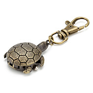 Unisex Alloy Analog Quartz Keychain Watch with Tortoise (Bronze)