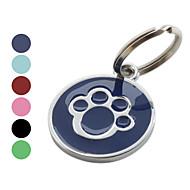 Köpekler Etiketler Ayak İzi Kırmızı / Siyah / Yeşil / Mavi / Gül Paslanmaz Çelik